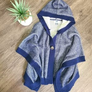 Old Navy 5T hooded blue poncho